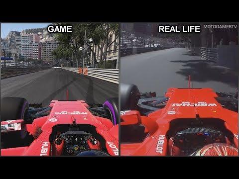 F1 2017 vs Real Life - Monaco Grand Prix Onboard Lap Comparison