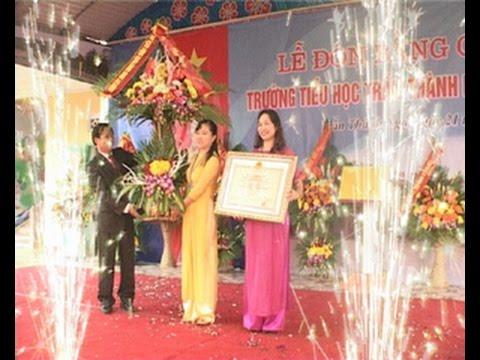 Trường tiểu học Trần Thành Ngọ đón Bằng công nhận chuẩn quốc gia giai đoạn 1