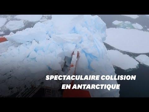 Ce brise-glace chinois a percuté un iceberg à cause d'un défaut de GPS