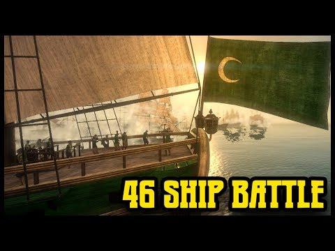 Massive 46 SHIP NAVAL BATTLE - Napoleon Total War Mod Gameplay