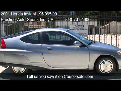 2001 Honda Insight 3dr HB Manual - for sale in North Hollywo