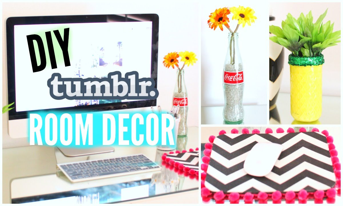 Diy tumblr room decor simple affordable youtube for Diy room decorations youtube