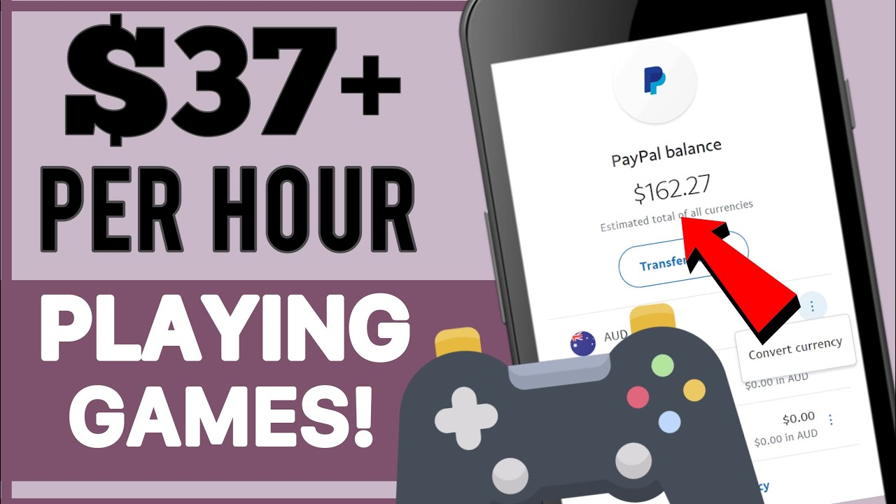 Earn $37+ Per Hour Playing Games | Make Money Online 2021 | Free Paypal Money
