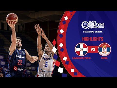 Dominican Republic - Serbia   Game Recap - FIBA Olympic Qualifying Tournament 2020