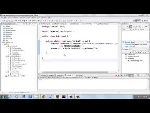 Java Webservice Example using eclipse IDE,wsimprort and wsgen mp4