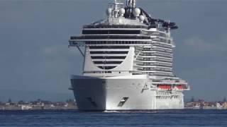 Eccola, a Messina Msc Seaside, la nave più grande d'italia- video OndaTv