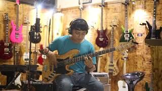 Gitar Bass Fender Jazzbass vintage tobbaco 4 St Customize
