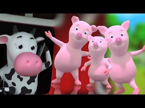 fünf kleine Schweinchen Kinder Song | Kinderreime | Lieder für Kinder