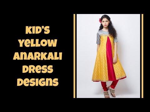 Kid's Yellow Anarkali Dress Designs