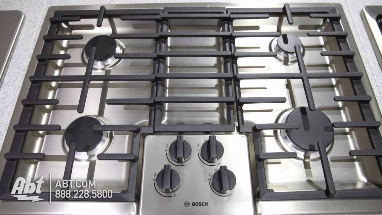bosch 500 series 30 gas cooktop ngm5055ss overview