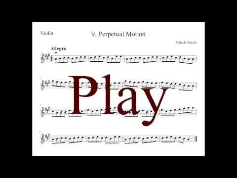 [Piano Accompany] Perpetual Motion - Suzuki Violin Book 1 (80% Tempo)