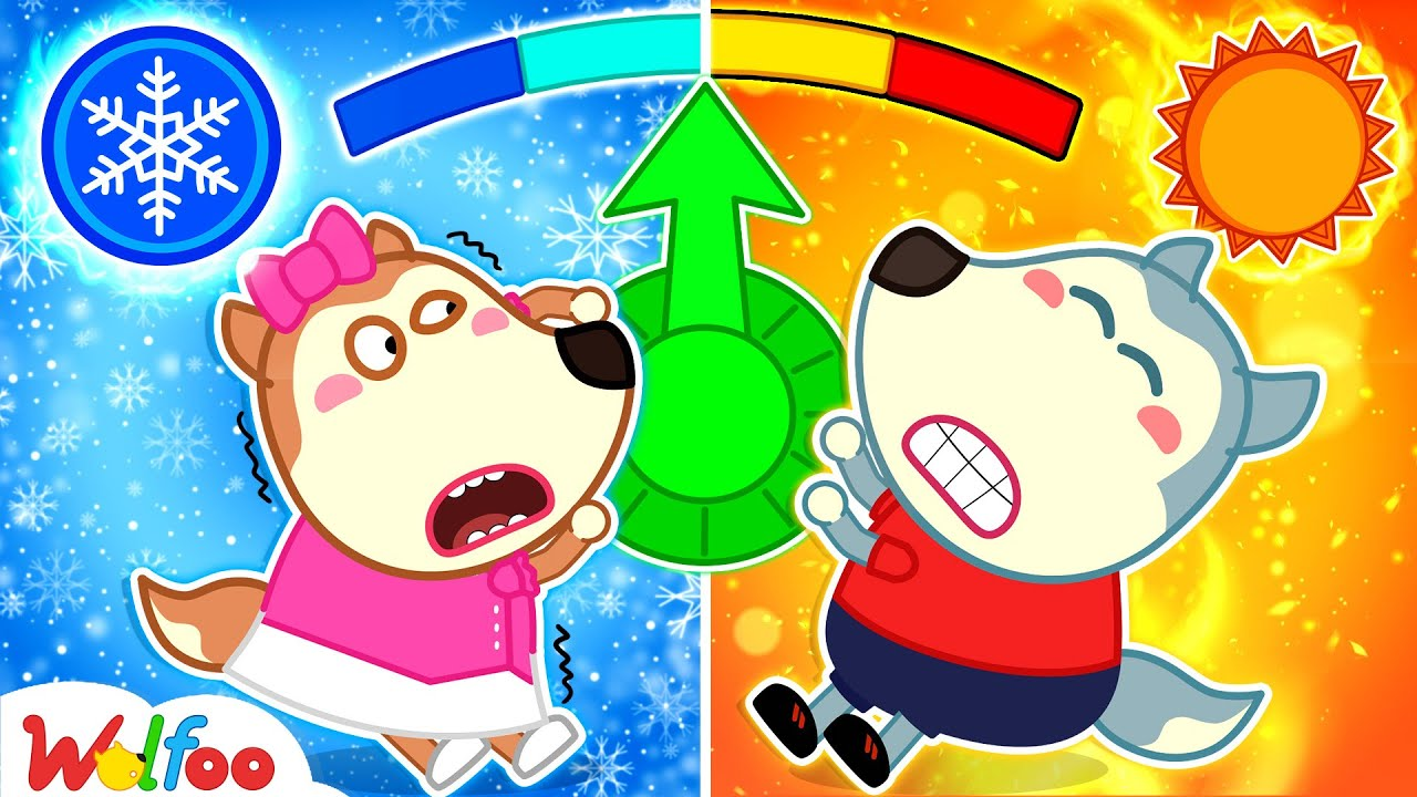 Download Wolfoo and Hot vs Cold Challenge with Lucy - Wolfoo Learns About Weather Forecast | Wolfoo Channel