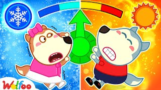 Wolfoo and Hot vs Cold Challenge with Lucy - Wolfoo Learns About Weather Forecast | Wolfoo Channel