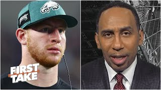 First Take reacts to Jason Peters saying 'Philly was Carson Wentz's biggest problem'