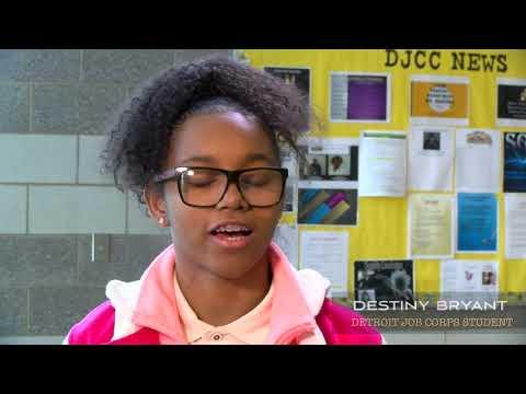 Detroit Job Corps Center Student Testimony Destiny Bryant