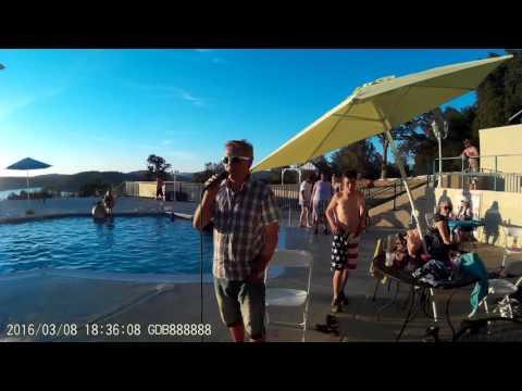 """Steven Jenkins Singing """"September Morn""""  OROVILLE CALIFORNIA 2016"""
