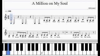 Скачать Alexiane A Million On My Soul Easy Piano Tutorial Sheet Music With Lyrics