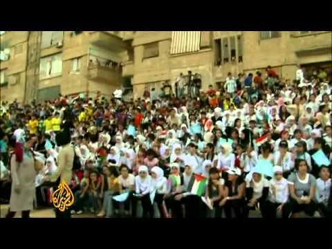 Football joy for refugees in Syria - Sport - Al Jazeera English.flv