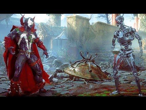 Mortal Kombat 11 Spawn Vs Endoskeleton Terminator Gameplay MK11