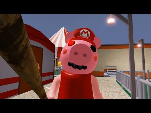 ROBLOX PIGGY MARIO JUMPSCARE - Roblox Piggy RolePlay