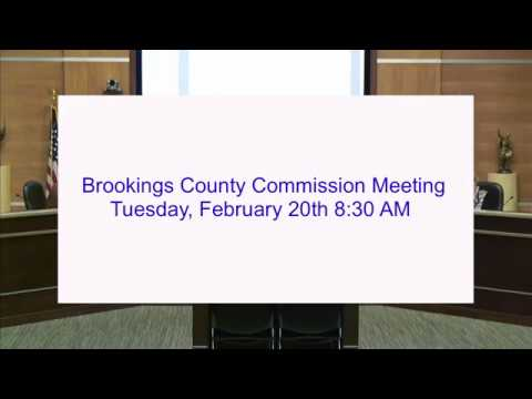 Brookings County Commission 2018-02-20