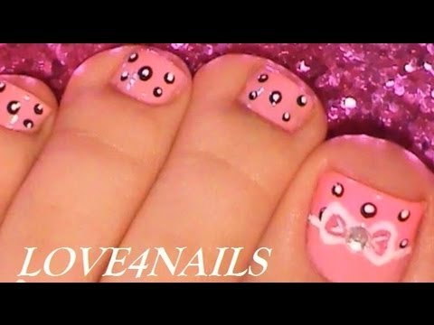 Easy Bow Toe Nail Art ...