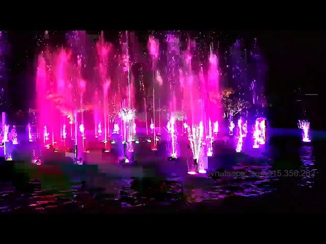 Musical dancing fountain - Nhạc nước nghệ thuật - Hồ tròn