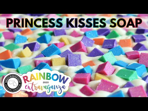 Princess Kisses Soap | RAINBOW EXTRAVAGANZA 2020 | MO River Soap from YouTube · Duration:  3 minutes 43 seconds