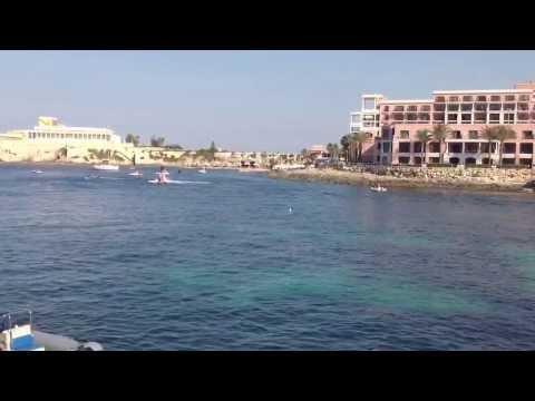 Water jet in Malta in August