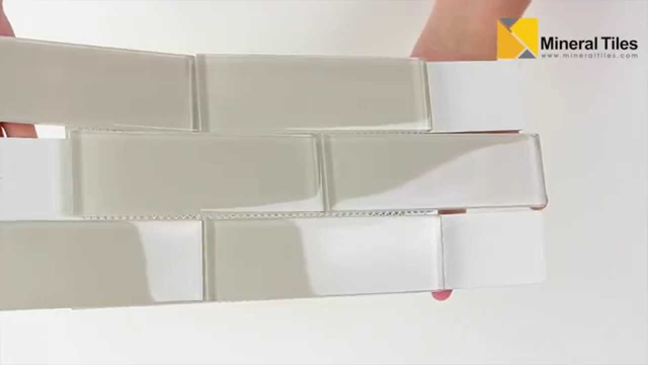 Glass subway tile white moderne 2x6 120anaelemmis26 for What is a 2x6