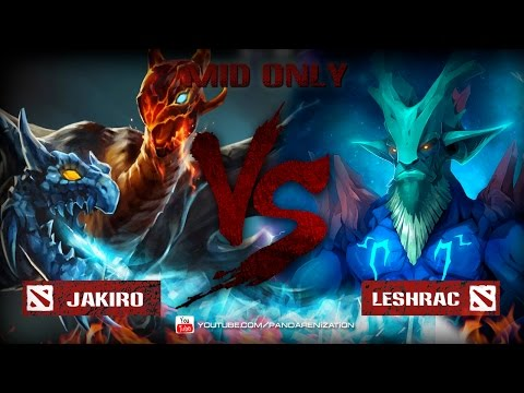 видео: jakiro vs leshrac [Битва героев mid only] dota 2