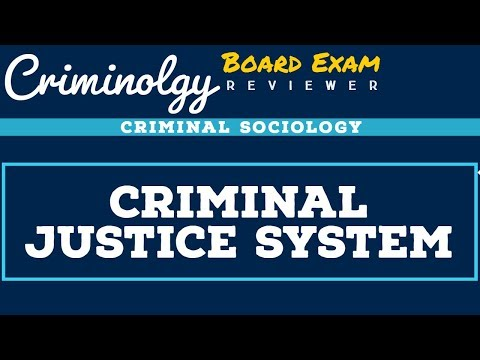 Criminal Justice System; CRIMINOLOGY BOARD EXAM REVIEWER [Audio Reviewer]