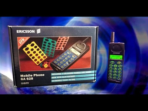 Vintage Mobile Phone Review: Ericsson GA 628 - Boxed, Complete! (still calls!)