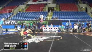 94 Cons. Round 4 - Jarod Kosman (Connecticut) vs. Conrad Braswell (Iowa)