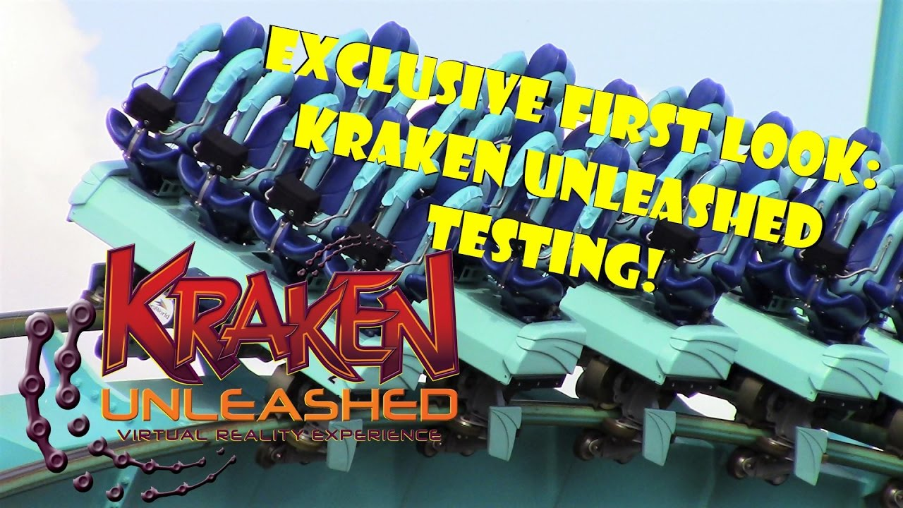 Download Exclusive First Look: Kraken Unleashed VR Roller Coaster Testing 4.24.17!