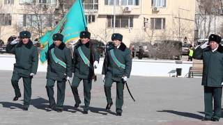 Вручение копии боевого знамени 72 ой гвардейской стрелковой дивизии, Актау, 27 февраля 2015