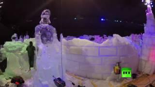 معرض التماثيل الجليدية في بلجيكا