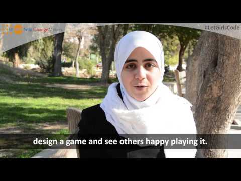 Aya from Syria, young change makers.
