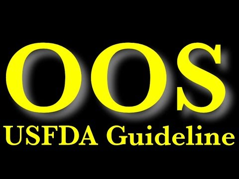 #Part-1 OOS guideline of USFDA decoded first time on YouTube.