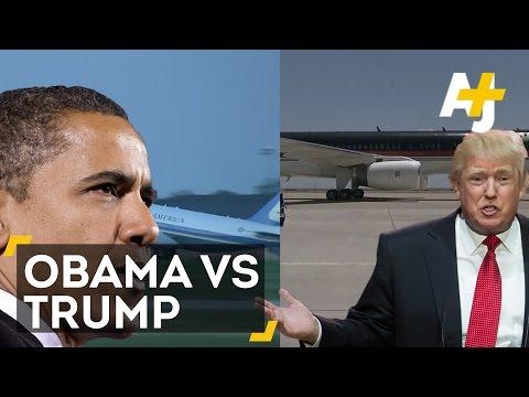 Obama Vs. Trump: Private Plane Showdown