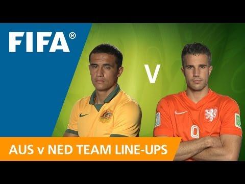 Australia v. Netherlands - Teams Announcement