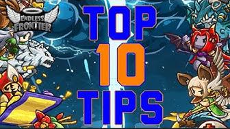 Top 10 Newbie Tips - Endless Frontier