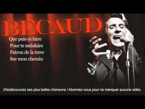 Gilbert Bécaud - Je T'appartiens - Paroles (Lyrics)