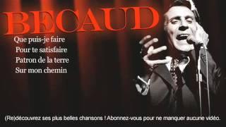 Gilbert Bécaud - Je t'appartiens - Paroles (Lyrics)