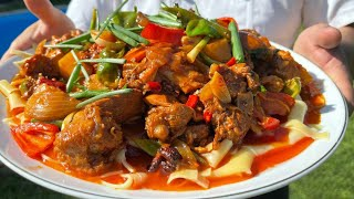 Дапанджи по Дунганскому Уйгурскому и Китайскому рецепту просто пальчики оближешь готовит Руслан