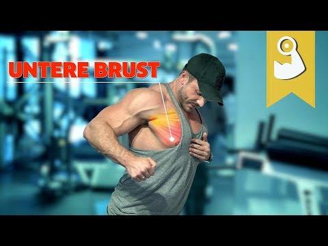 Übungsroutine zur Verbrennung von Brustfett