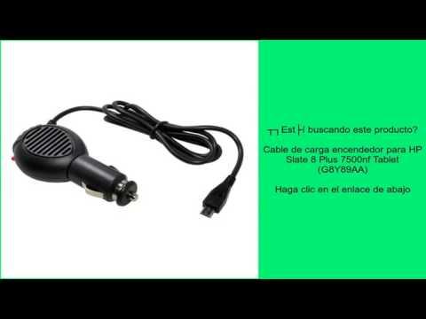 Cable de carga encendedor para HP Slate 8 Plus 7500nf Tablet (G8Y89AA)