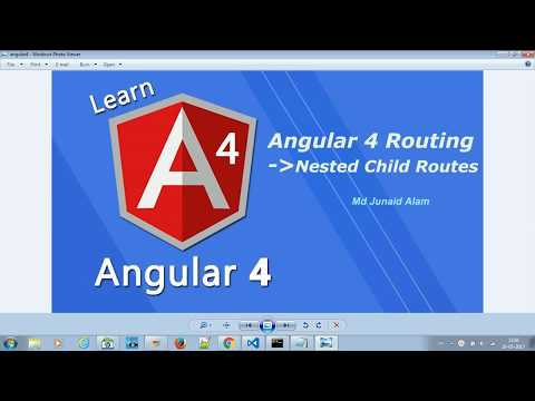 Angular Routing (Angular 4) : Nested Child Routes - #7