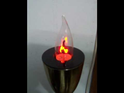 Vela eletrica youtube for Lampada vela artemide