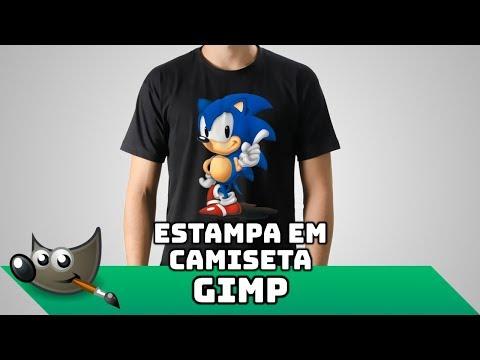 Tutorial Gimp - Vídeo Aula 38 - Colocando uma estampa em uma camiseta